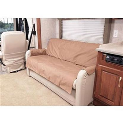 """Picture of CoverCraft Canine Covers (R) SofaSaver Tan 60""""x18"""" RV Sofa Cover SRS001TN 71-2659"""