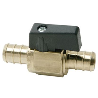 "Picture of BestPEX  3/8"" PEX x 3/8"" PEX Brass Straight Ball Valve 51200 72-0840"