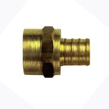 """Picture of BestPEX  3/4"""" Hose Barb x 3/4"""" FPT Brass Fresh Water Straight Fitting 41130 88-9111"""