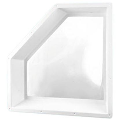 "Picture of Specialty Recreation  5""H Bubble Dome Neo Angle White PC Skylight w/30"" X 13.5"" Flange NN2810 94-4063"